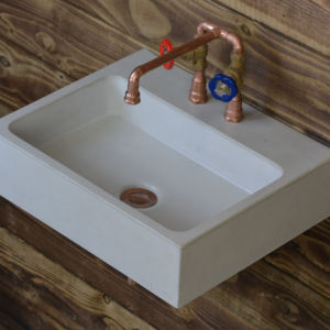 concrete sink basin coron