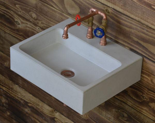 concrete sink basin coron