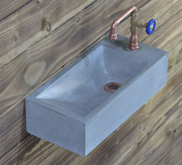 concrete basin coron sink with valve