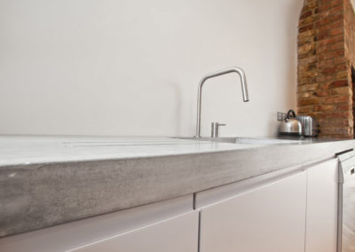 Polished concrete worktops, Crouch end London (1)-1024x682